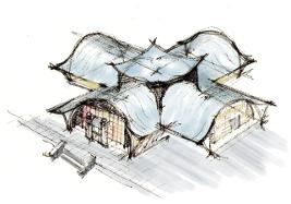 Neuzeitbau naturintegriertes bauen for Fachwerkhaus skizze